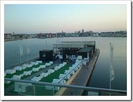 High cube bar container reciclado en el puerto de Valencia