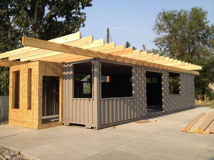 Proyecto sarah house utah casa container todos los for Container casa